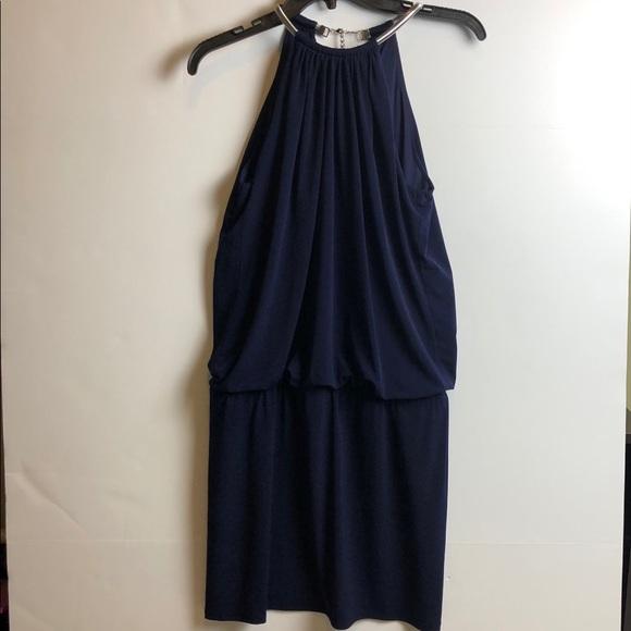 Jessica Simpson Blue Halter Dress